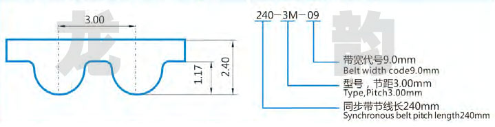 HTD3M橡胶同步带是采用日本进口优质合成氯丁胶为主要原料,配入多种不同用途的辅料;骨架材料均为日本进口优质玻璃纤维线绳;带齿表面采用尼龙66高弹力布做保护。具有动态屈绕性好,抗龟裂性能好,臭氧性能优良,耐老化,耐热,耐油,耐磨损等特点。 HTD3M橡胶同步带使用时请注意以下事项: 1.